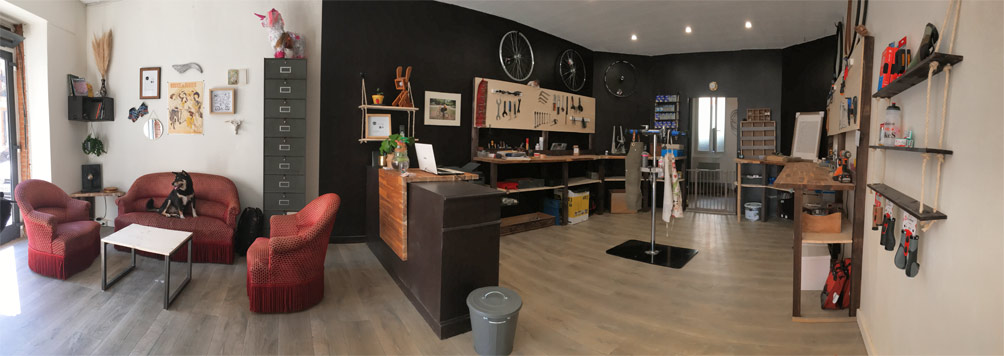 panoramique atelier reparation velo bicyclit'